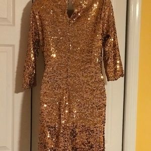 Gold sequins party dress